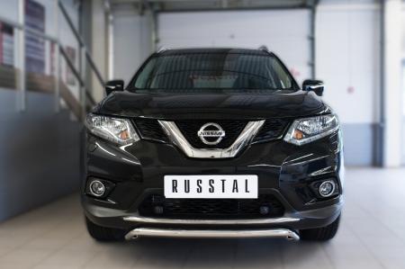 Nissan X-Trail 2015 Защита переднего бампера d42 (волна)  NXZ-002082